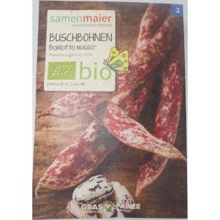 Buschbohnen Borlotto rosso bio