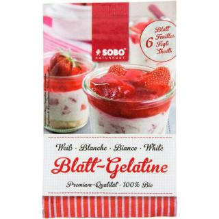 Blatt-Gelatine Sobo