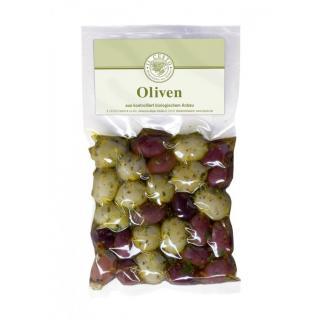 Oliven Mix schwarz/grün marin.