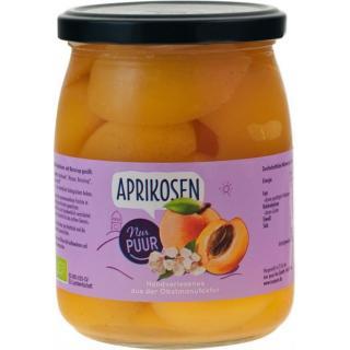 Aprikosen, halbe Frucht