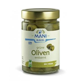Grüne Oliven in Lake entkernt
