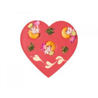 Herz vegan Himbeer-Kokos