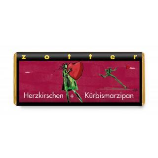 Herzkirschen + Kürbismarzipan