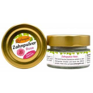 Birkengold Zahnpulver Rose Glas 30 g